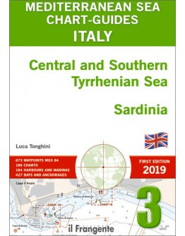 MEDITERRANEAN SEA CHART-GUIDE 3 - Italy Central and Southern Tyrrhenian Sea, Sardinia  - ENGLISH