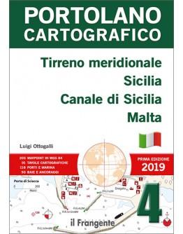 PORTOLANO CARTOGRAFICO 4  - Tirreno meridionale, Sicilia, Canale di Sicilia, Malta