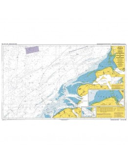 110 - International Chart Series, North Sea, Netherlands, Westkapelle to Stellendam and Maasvlakte - Plan A) Noordland Roompotsluis - Plan B) Slijkgat to Stellendam
