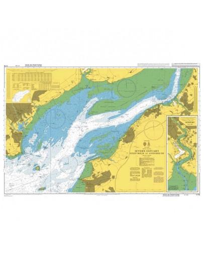 1176 -  International Chart Series, Bristol Channel, Severn Estuary, Steep Holm to Avonmouth - Newport