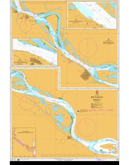 1327 - Argentina, Río Paraná, Sheet 5 - Plan A) Continuation of Río Paraná -Plan B) Puerto Bunge-Ramallo - Plan C) Puerto Ingeniero Buitrago