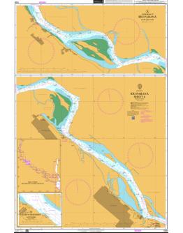 1328 - Argentina, Río Paraná, Sheet 6 - A Continuation of Río Paraná - B Puerto Ingeniero Acevedo