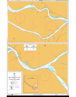1340 - Argentina, Río Paraná, Río Paraná Guazú and Pasaje Talavera - Plan A - B