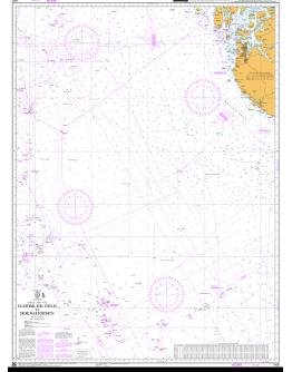 1405 - International Chart Series, Norway - West Coast, Eldfisk Oil Field to Boknafjorden