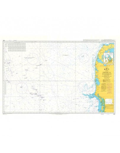 1422 - International Chart Series, North Sea, Esbjerg to Hanstholm including Offshore Oil and Gas Fields - Plan A) Hanstholm