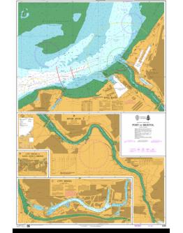 1859 - International Chart Series, England - West Coast, Port of Bristol - Plan A) King Road - Plan B) River Avon - Plan C) City Docks - Plan D) City Docks to Saint Anne's Bridge