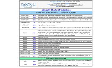ADMIRALTY CHARTS NUOVE EDIZIONI DEL 17/10/2019 - 24/10/2019