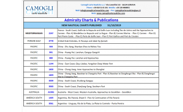 ADMIRALTY CHARTS NEW EDITION OF 31/10/2019