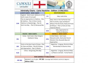 ADMIRALTY CHARTS NEW EDITION 17/06/2021