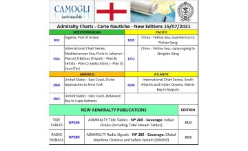 ADMIRALTY CHARTS NEW EDITION 15/07/2021