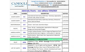 Admiralty Charts new edition 11th March 2021