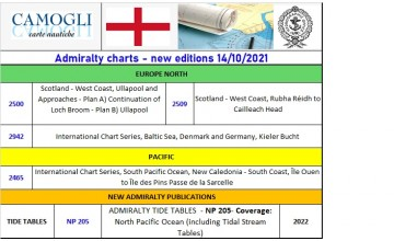 ADMIRALTY CHARTS NEW EDITION 14/10/2021