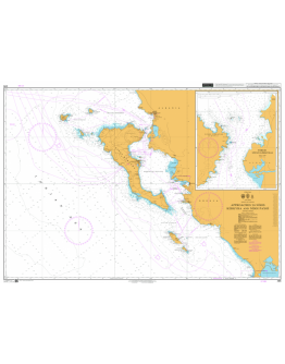 205 - International Chart Series, Greece and Albania, Approaches to Nísos Kérkyra and Nísoi Paxoí. Vóreio Stenó Kérkyras