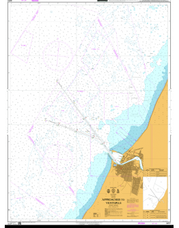 2277 - International Chart Series, Baltic Sea – Latvia, Approaches to Ventspils