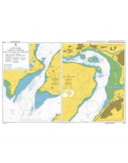 2372 - Scotland - West Coast, Loch Linnhe Corran Narrows, Fort William and Corpach - Plan A) Corran Narrows - Plan B) Fort William and Corpach