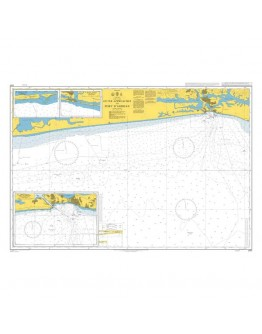 3101 - International Chart Series, Ivory Coast, Outer Approaches to Port d'Abidjan - Plan A) Approaches to Port d'Abidjan - Plan B) Grand – Lahou - Plan C) Grand – Bassam