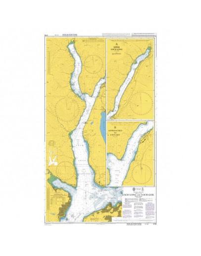 3746 - International Chart Series, Scotland - West Coast, Firth of Clyde, Loch Long and Loch Goil  - Plan A) Upper Loch Long  - Plan B) Approaches to Finnart