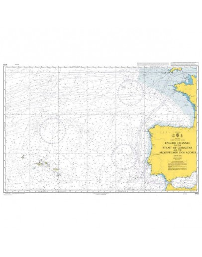 4103 - International Chart Series, North Atlantic Ocean, English Channel to the Strait of Gibraltar and the Arquipélago Dos Açores