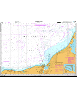 DE1671 - International Chart Series, Baltic Sea Germany, Approaches to Rostock and Kadetrinne