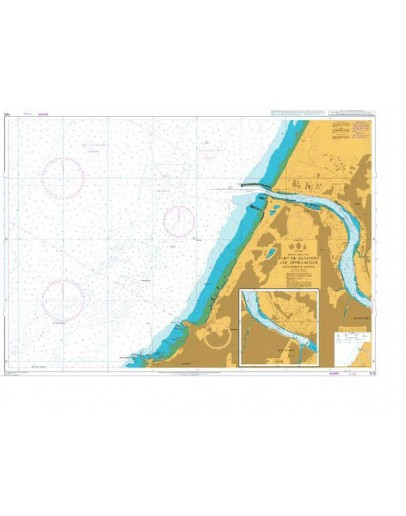 1175 - International Chart Series, France - West Coast, Port de Bayonne and Approaches Including L'Adour - Plan A) Continuation of L'Adour