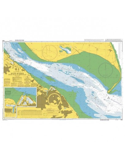 1188 - International Chart Series, England - East Coast, River Humber, Spurn Head to Immingham - Grimsby
