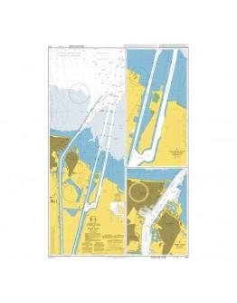 240 - International Chart Series, Mediterranean Sea – Egypt, Approaches to Port Said (Būr Saʿīd) - Plan A) Suez Canal Container Terminal - Plan B) Port Said (Būr Saʿīd)
