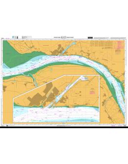 DE46 - International Chart Series - North Sea, Germany, River Elbe, Belum to Krautsand - Brunsbüttel