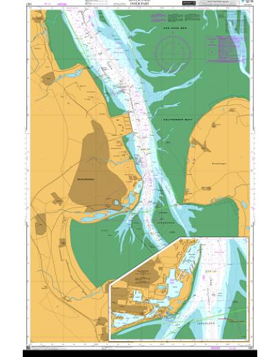 DE7 - International Chart Series, North Sea – Germany, River Jade, Inner Part - Wilhelmshaven