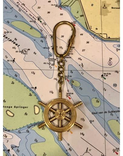 """""""Brass Rudder"""" Keychain"""