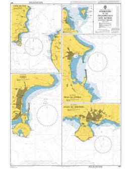 1957 - Harbours in the Arquipélago Dos Açores (Central Group)