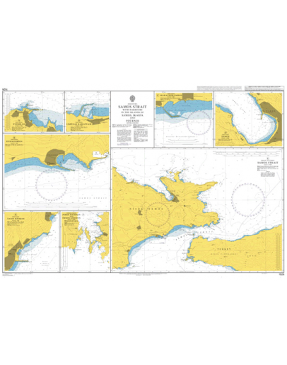 1526 - Straits and Harbours in the Islands of Samos- Ikaria and Fournoi