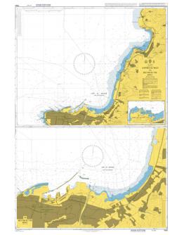 1563 - International chart series, Lebanon, Beyrouth (Beirut) and Approaches - Plan A) Beyrouth (Beirut) - Plan B) Port De Joûni