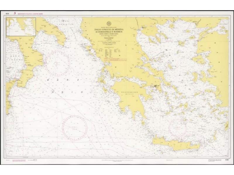 436 - Dallo Stretto di Messina ai Dardanelli e Rodhos, Mar Ionio e Mare Egeo