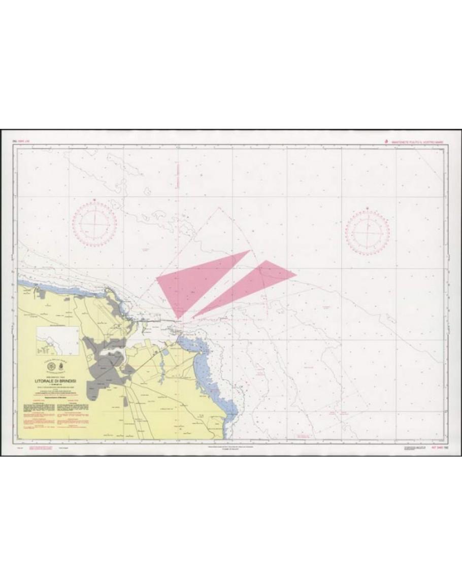 Mappa Nautica Puglia.192 Litorale Di Brindisi