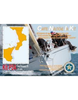 Kit P5A - Da Punta di Mezzanotte a Stretto di Messina (Calabria) - da Stretto di Messina a Fiume Tellaro (Sicilia)