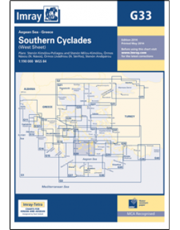 G33 - Southern Cyclades (West Sheet)
