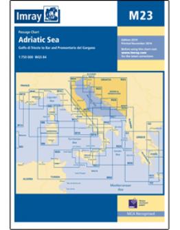M23 - Adriatic Sea Passage Chart - Golfo di Trieste to Bar and Promontorio del Gargano