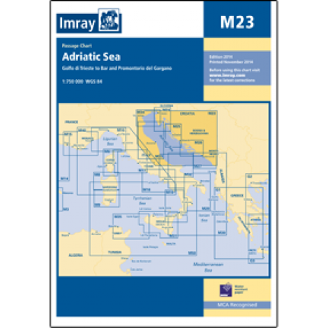 M23 - Adriatic Sea Passage Chart - Golfo di Trieste to Bar and Promontorio del Gargano