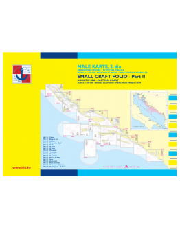 MK-II - Male Karte 2 - Da Zara all'Isola di Palagruza (Zadar - Otok Palagruza)