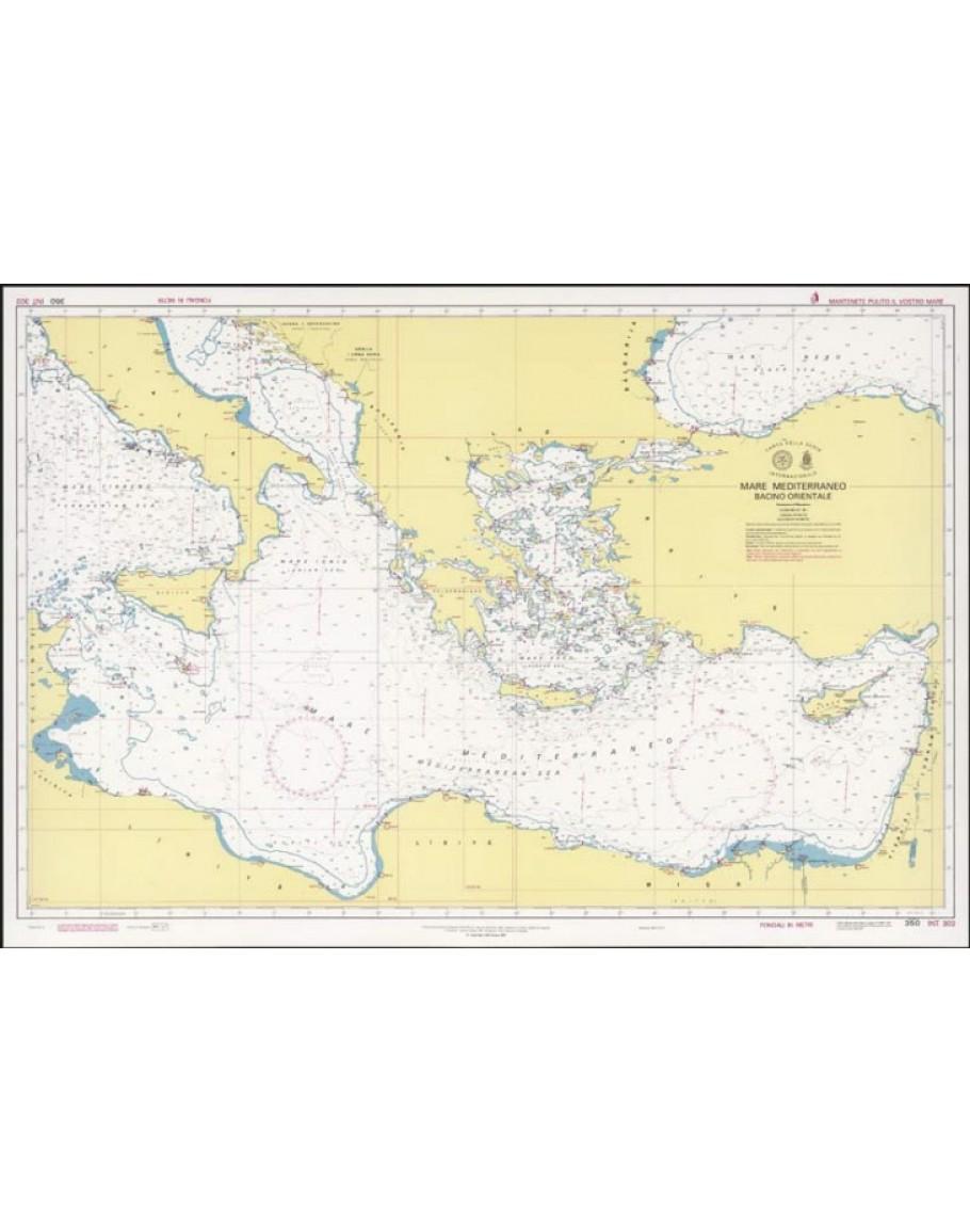 Mare Mediterraneo Cartina.350 Mare Mediterraneo Bacino Orientale