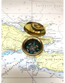 Small Brass Pocket Compass