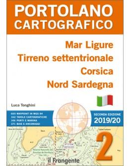PORTOLANO CARTOGRAFICO 2 MAR LIGURE - TIRRENO SETTENTRIONALE - CORSICA - NORD SARDEGNA