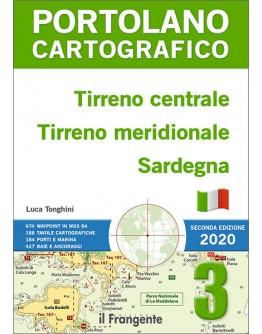 PORTOLANO CARTOGRAFICO 3 - Tirreno centrale, Tirreno meridionale, Sardegna