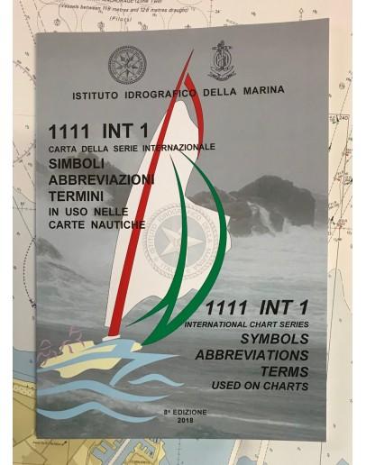 I.I. 1111 - INT.1 - CARTA DELLA SERIE INTERNAZIONALE DEI SIMBOLI, ABBREVIAZIONI, TERMINI IN USO NELLE CARTE NAUTICHE