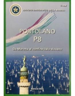 I.I.3208 - PORTOLANO Vol. P8 da Marotta al confine Italo-Sloveno